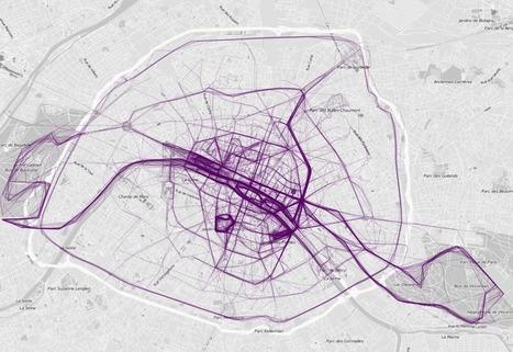 LES RUNNING MAPS DE NATHAN YAU, RÉVÈLENT LES TRACES DES COUREURS URBAINS | CAPLP lettres histoire : ressources pour les questions au concours | Scoop.it