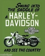 """Vintage Canvas Print reproduction Motorcycle Art """" Harley Saddle Swing"""" 