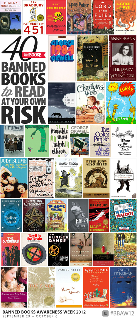 40 Banned Books to Read at Your OwnRisk - Half Price Books Blog - HPB.com   Banned Books   Scoop.it