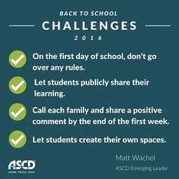 » Four Challenges for the New School YearASCD Inservice | Strictly pedagogical | Scoop.it