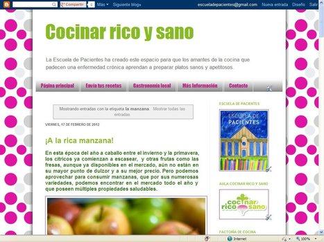 Blog Cocinar rico y sano | Blogs Escuela de Pacientes | Scoop.it