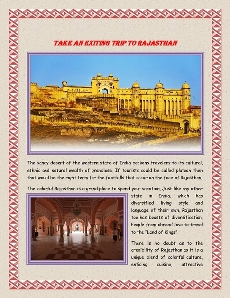 Take an Exiting trip to Rajasthan - PDF | Indian Tourism | Scoop.it
