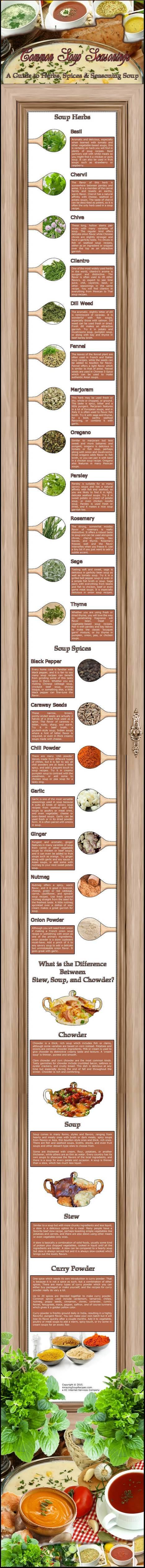 Common Soup Seasonings   Amazing Soup Recipes   Scoop.it