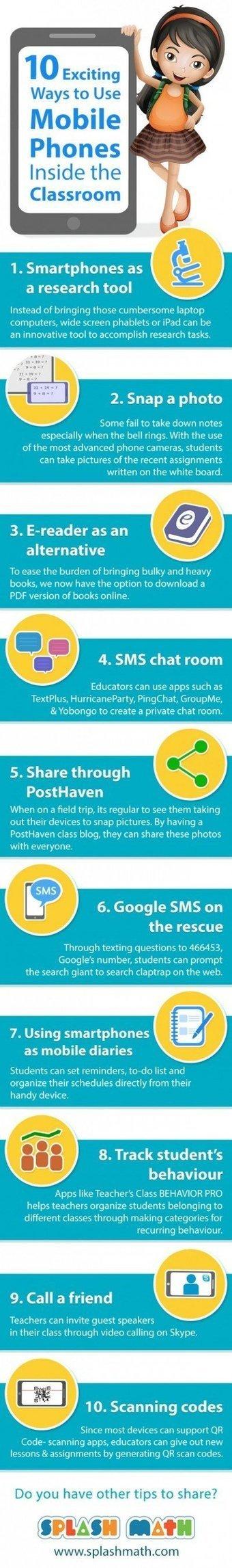 10 Ways to Integrate Mobile Phones in Class   Daring Gadgets, QR Codes, Apps, Tools, & Displays   Scoop.it