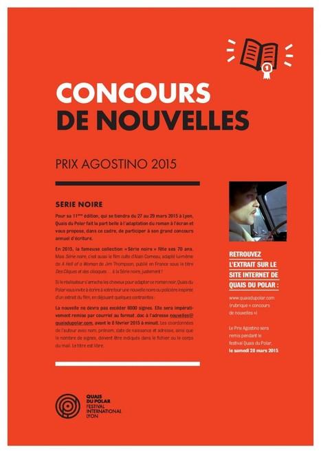 Prix Agostino – adultes et lycéens | Quais du Polar avant le 8 février 2015 #écriture | romans policiers québécois et canadiens | Scoop.it