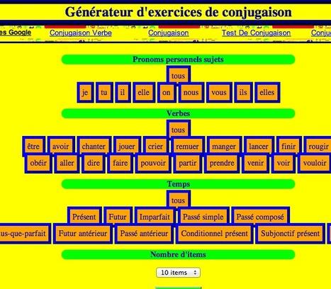 Générateur d'exercices de conjugaison | Conny - Français | Scoop.it
