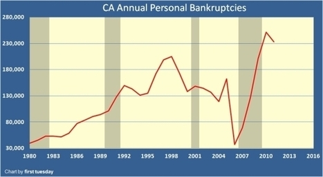 Living the California debt based dream – Bankruptcies in California increased 557% | ZeroHedge | Gold and What Moves it. | Scoop.it