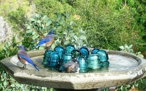 Bird bath idea | Upcycled Garden Style | Scoop.it
