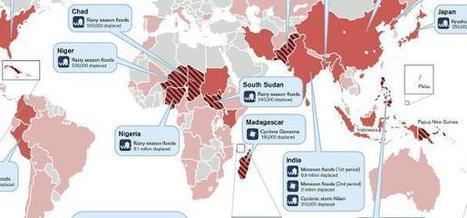 La carte des 31 millions de réfugiés climatiques   Economie Responsable et Consommation Collaborative   Scoop.it