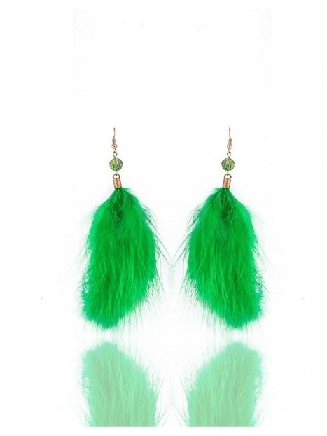Blingside Long feather earrings | Rudraksha 3D T-Shirts at Shoppingustad | Scoop.it