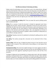 The Differences Between Proofreading and Editing | Thesis Dissertation Proofreading and Editing Service | Scoop.it