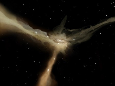 Gas, Not Galaxy Collisions Responsible for Star Formation in Early Universe | Planets, Stars, rockets and Space | Scoop.it
