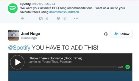 Twitter tunes into Spotify to soundtrack its audio cards | MUSIC:ENTER | Scoop.it