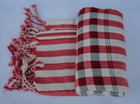 Cotton Traditional Striped Kroma(Scarf), ethically handmade by local disadvantaged weavers.   Silk Scarfs, Ethically handmade   Scoop.it