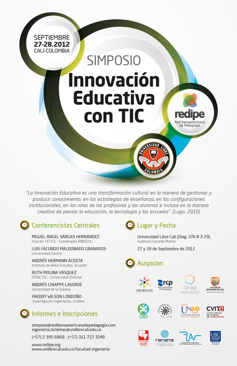 GRAN SIMPOSIO REDIPE INNOVACIÓN EDUCATIVA Retos y - letras | Anny | Scoop.it