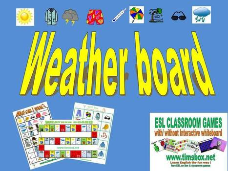 CLASSROOM GAMES - Weather board | Teaching English ESL - Ressources anglais -timsbox | Scoop.it