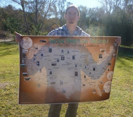 "First indigenous map of its kind; U.S. map displays ""Our own names and locations"" 