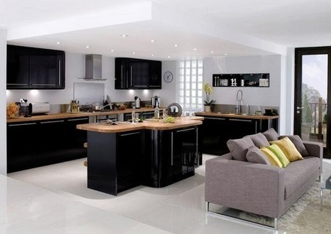 Black Kitchen Cabinet for Sophisticated Kitchen   Home Decorating Ideas   Scoop.it