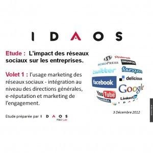 Etude Idaos : Impact des reseaux sociaux, e-reputation et engagement marketing   Actu webmarketing et marketing mobile   Scoop.it