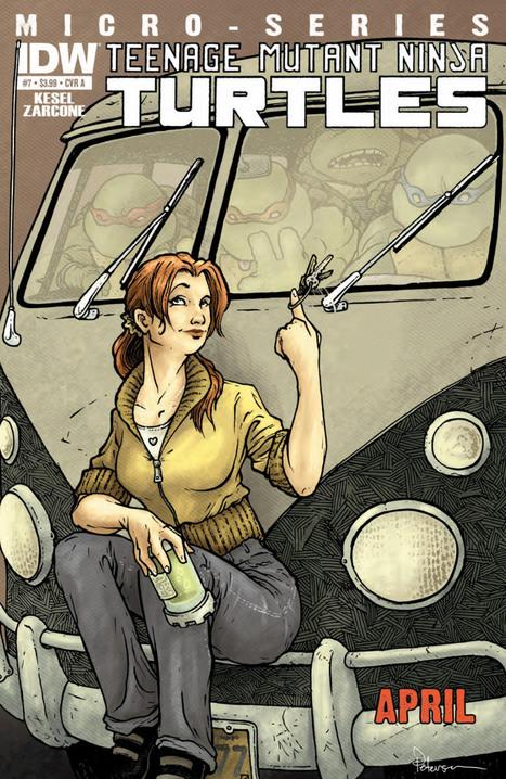 April's Got Spy Skills In 'Teenage Mutant Ninja Turtles Microseries #7: April' [Preview] | Ladies Making Comics | Scoop.it