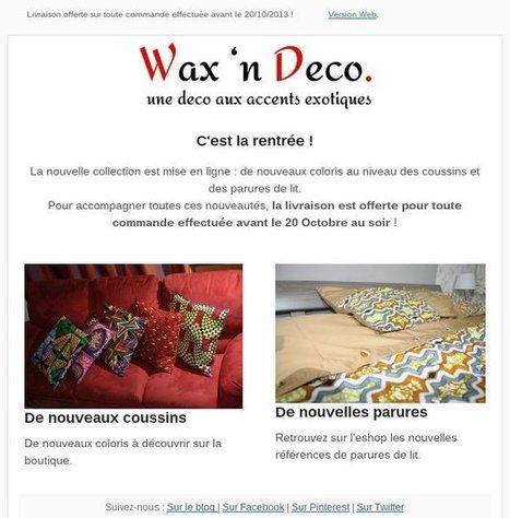 waxindeco | WaxinDeco - Linge de maison en tissu wax | WaxinDeco | Scoop.it