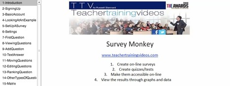 Free online tutorial for using Survey Monkey - by Russell Stannard | electronics | Scoop.it