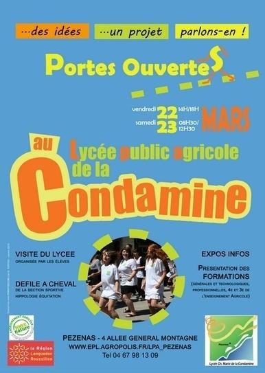 CONDAMINE-JPO-affiche-petite.jpg (455x640 pixels) | ORIENTATION: PORTES OUVERTES dans les établissements du Languedoc Roussillon | Scoop.it
