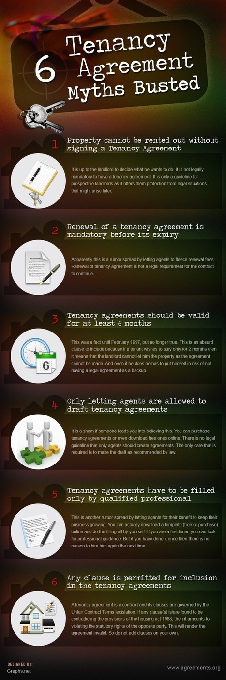 Top 6 Tenancy Agreement Myths Busted | All Infographics | All Infographics | Scoop.it