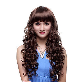 Top Grade Quality Capless Long Synthetic Brown Curly Charming Wig – WigSuperDeal.com | African American Wigs | Scoop.it