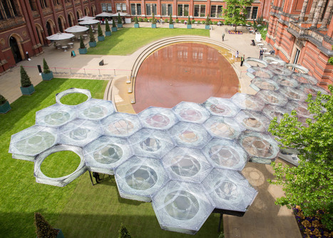 Robotically fabricated carbon-fibre pavilion opens at the V&A | a3 _ research | Scoop.it