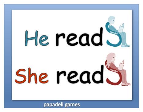 Simple Present Verb Endings   Dyslexic learners   Scoop.it
