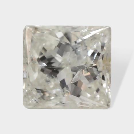 0.09 ctw 2 79 x 2 58 mm H White Color I2 Clarity Princess Cut Real Diamond | Loose Diamonds | Scoop.it