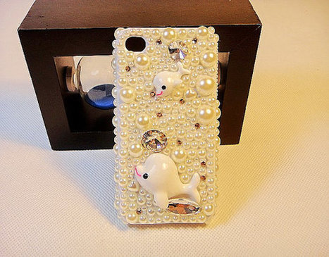 iPhone 5 cover iphone 4S/4 case Pearls Bling Rhinestone Crystals Stylish Girly | bling iphone case | Scoop.it
