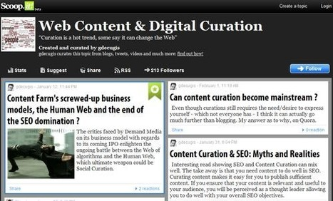 Connaissez-vous la Curation? - YOUPHIL | Curation & Co | Scoop.it