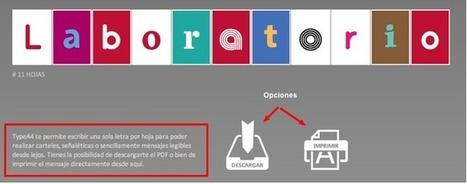 Cómo hacer carteles letra a letra para imprimir | Educa con TIC | Cuarto de Ana Soto | Scoop.it