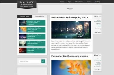 DualShock Free Dual Purpose WordPress Theme - WP Daily Themes | Free & Premium WordPress Themes | Scoop.it
