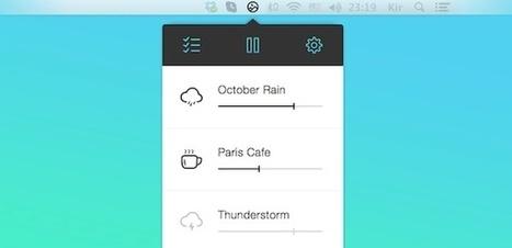 Noizio, un ecualizador de sonido ambiente para Mac con el que aumentar nuestra productividad o relajarnos   Entorns Virtuals d'Aprenentatge i Recursos Educatius WEB 2.0   Scoop.it
