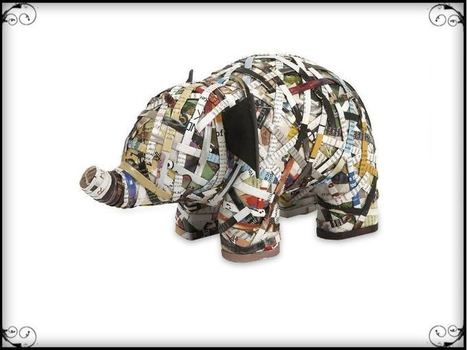 Imar Recycled Magazine Elephant   Furniture and Home Decor   Scoop.it
