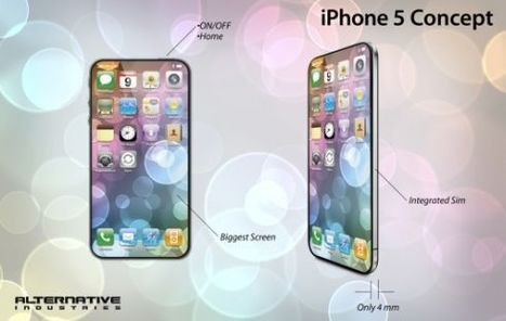iPhone 5 Concept Design : Thinnest Smartphone Ever   Gadgets I lust for   Scoop.it