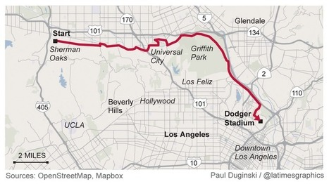 Two fans beat Dodgers traffic by walking to the game – 22 miles from Sherman Oaks | Sustainability Science | Scoop.it