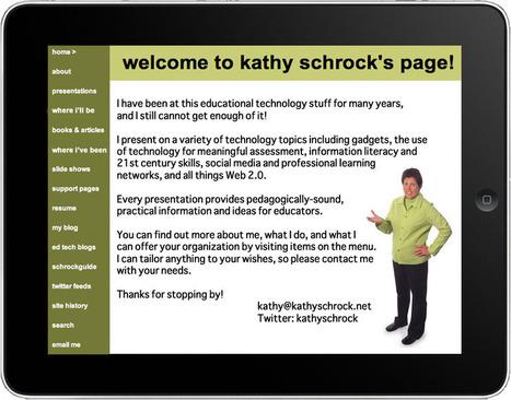 Kathy Schrock's Home Page | School | Scoop.it