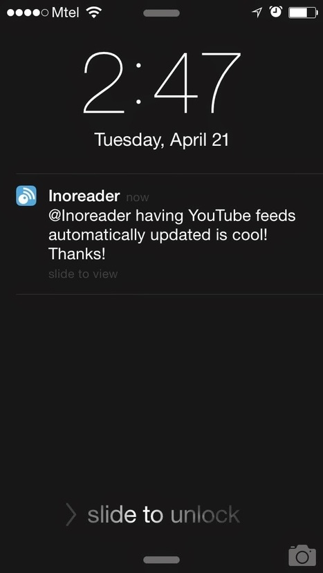 Inoreader introduces push notifications: get the most important news on the go | RSS Circus : veille stratégique, intelligence économique, curation, publication, Web 2.0 | Scoop.it