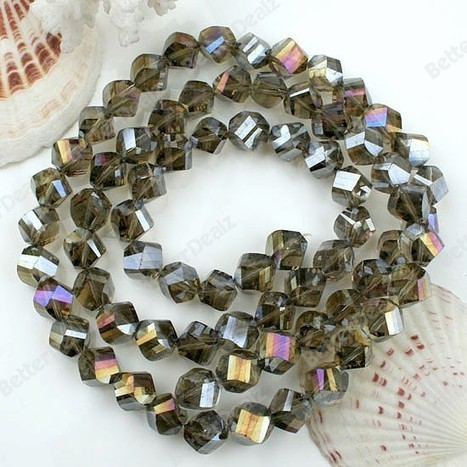 10mm cheap Ab Gray cheap Crystal Glass Faceted Twist Beads 26.5l | Fashion Jewelry | Scoop.it