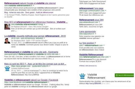 Hyper personnalisation des résultats dans les SERPs par Google Plus | Entrepreneurs du Web | Scoop.it