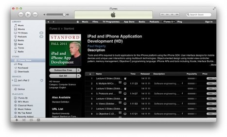 Stanford's Free iOS App Development Course Now Focuses On iOS 5 -- AppAdvice | Edtech PK-12 | Scoop.it