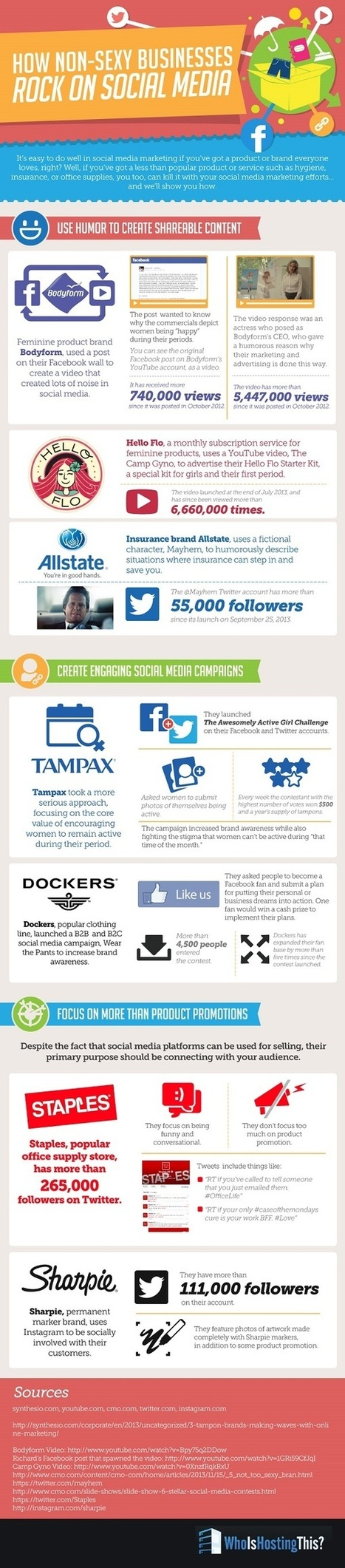 How to Sell Unsexy Products on Social Media [Infographic] | MarketingHits | Scoop.it