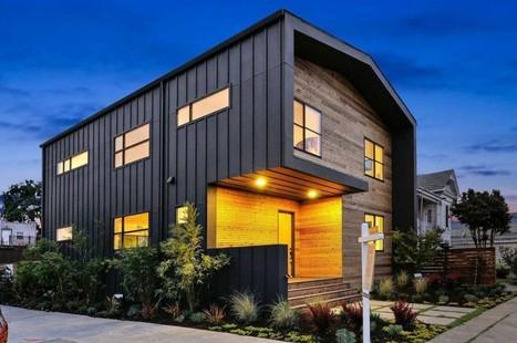 Bardage bois et m tal pour cette maison - Maison bois metal ...