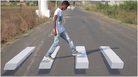 Watch | These 3D road marking illusions are set to avoid accidents | Educational technology , Erate, Broadband and Connectivity | Scoop.it