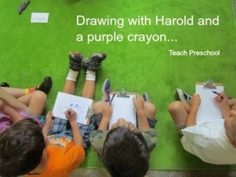 Drawing and story telling with a purple crayon | Teach Preschool | Scoop.it
