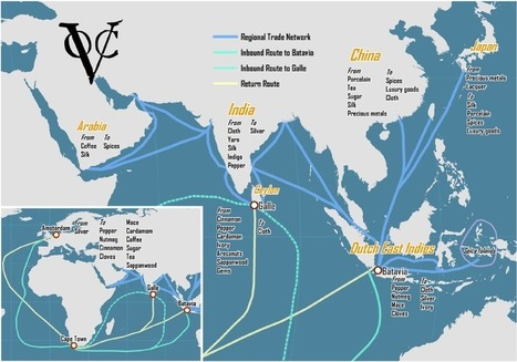 Dutch East India Company, Trade Network, 18th Century | Year 9 History: Dutch East Indies 1750 - 1918 | Scoop.it